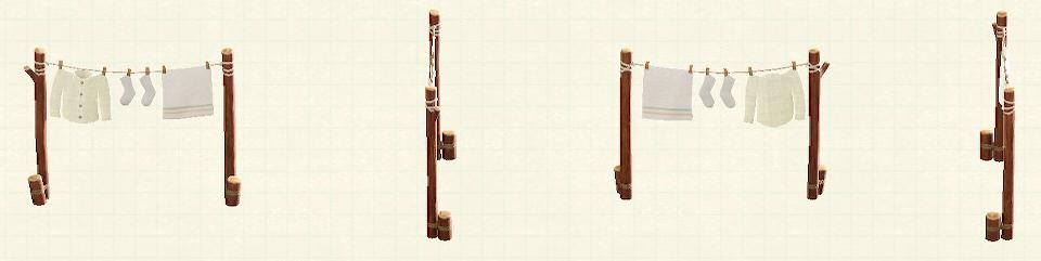 あつ森のものほしロープのマイデザイン