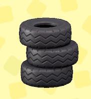 あつ森のつまれたタイヤのブラック