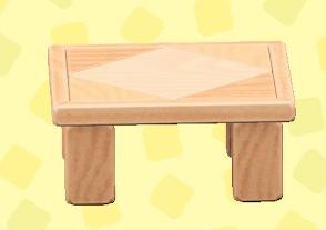 あつ森のつみきテーブルのナチュラル