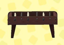 あつ森のテーブルサッカーのダークブラウン