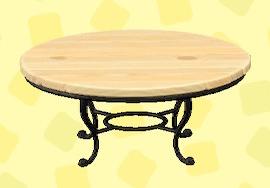 あつ森のナチュラルなガーデンテーブルのナチュラル