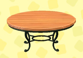 あつ森のナチュラルなガーデンテーブルのオーク