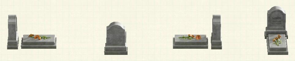 あつ森の洋風の墓石のリメイクグレーパターン