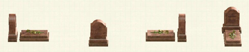 あつ森の洋風の墓石のリメイクブラウンパターン