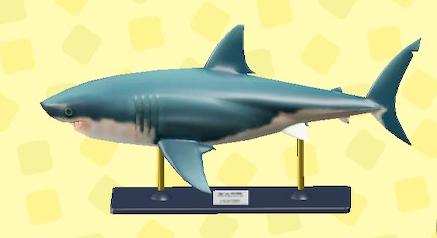 あつ森のサメのもけい