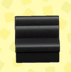 あつ森のボックスソファのブラック