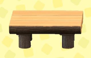 あつ森のまるたのダイニングテーブルのダークウッド