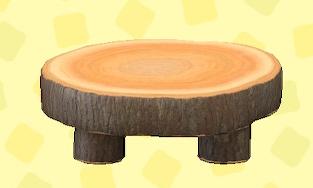 あつ森のまるたのラウンドテーブルのダークウッド