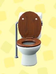あつ森のようしきトイレのダークウッド