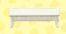 あつ森のラタンのローテーブルのホワイト