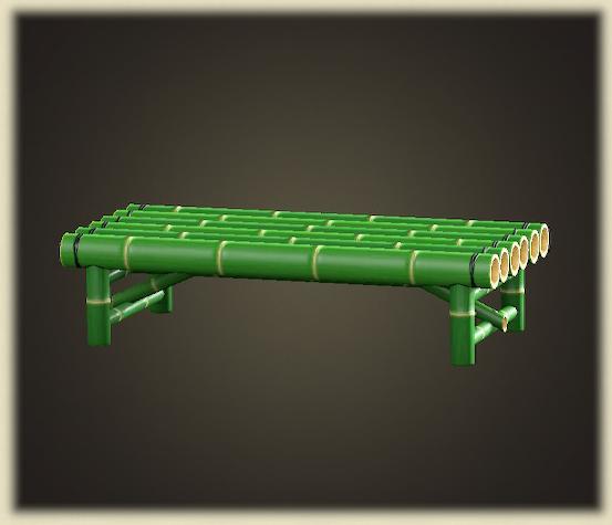 あつ森の竹のベンチ
