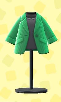 あつ森のキャリアなジャケットのグリーン
