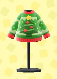 あつ森のクリスマスセーターのグリーン