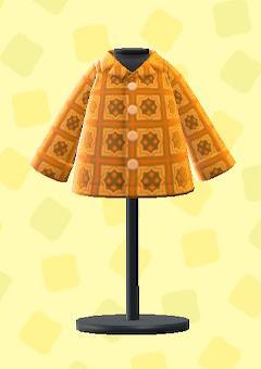 あつ森のサイケデリックシャツのオレンジ