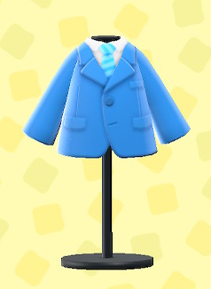 あつ森のスーツのブルー