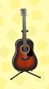 あつ森のアコースティックギターのブラウン