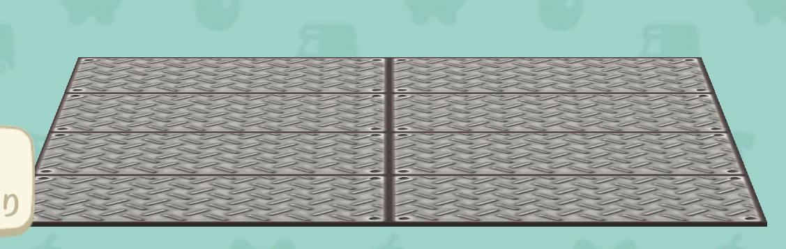 ポケ森の鉄板のラグ