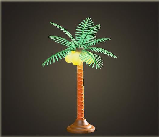 あつ森のパームツリーランプ