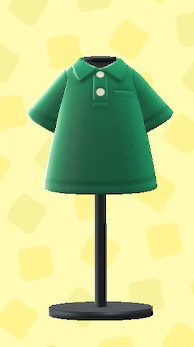 あつ森のポロシャツのグリーン