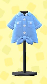 あつ森のまえむすびYシャツのブルー