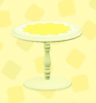 あつ森のキュートなティーテーブルのイエロー