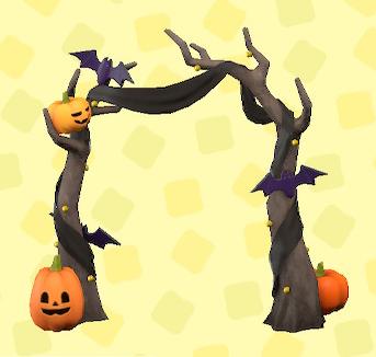 あつ森のハロウィンなアーチのオレンジ