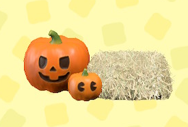 あつ森のハロウィンなランタンセットのオレンジ