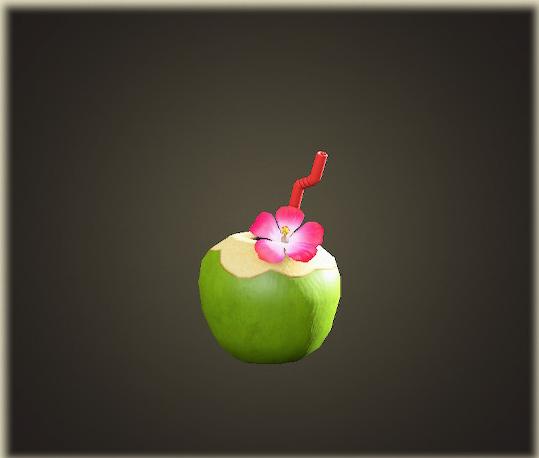 あつ森のココナッツジュース