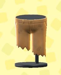 あつ森のやぶれたズボンのブラウン