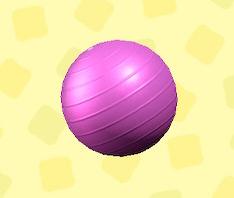 あつ森のバランスボールのピンク