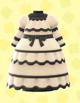あつ森のセニョリータなドレスのベージュ