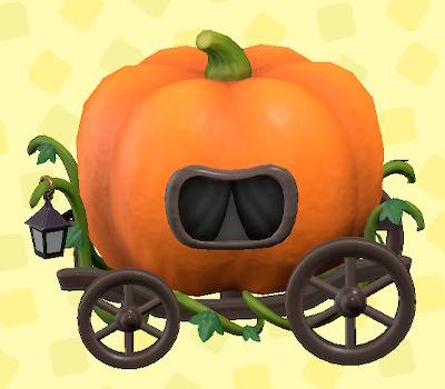 あつ森のハロウィンなばしゃのオレンジ