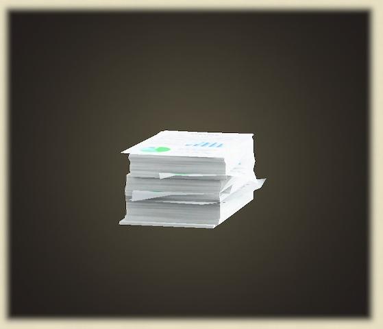 あつ森の書類の山