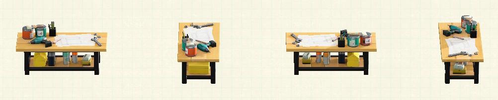 あつ森のアイアンウッドDIYテーブルのリメイクバーチパターン