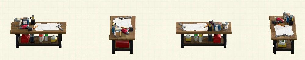 あつ森のアイアンウッドDIYテーブルのリメイクウォルナットパターン