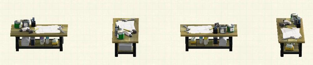 あつ森のアイアンウッドDIYテーブルのリメイクオールドパターン