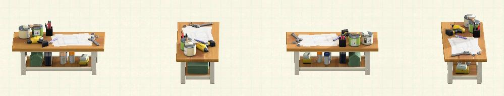 あつ森のアイアンウッドDIYテーブルのリメイクオークパターン