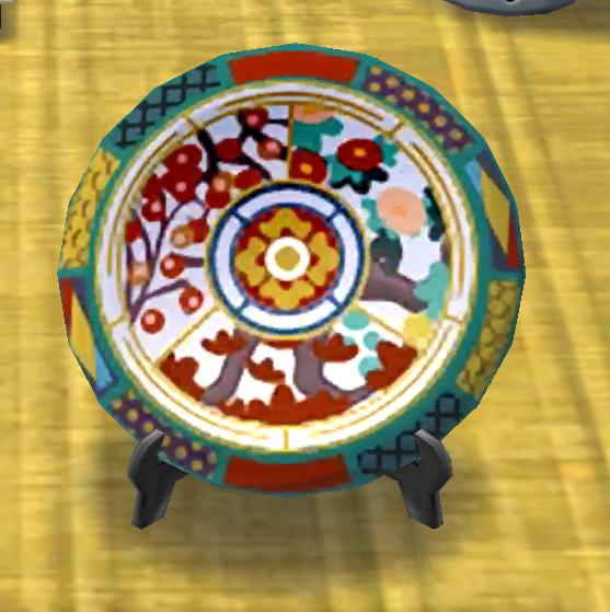 ポケ森の大きな絵皿