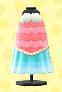 あつ森のマーメイドなおさかなドレスのピンク