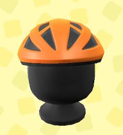 あつ森のサイクルヘルメットのオレンジ