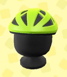 あつ森のサイクルヘルメットのライム