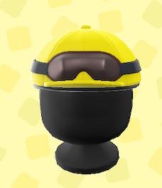 あつ森のジョッキーヘルメットのイエロー