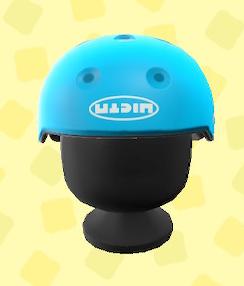 あつ森のスケボーヘルメットのライトブルー