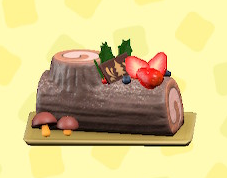 あつ森のブッシュ・ド・ノエルのチョコレート