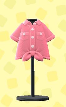 あつ森のまえむすびYシャツのピンク