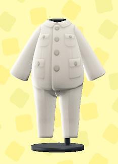 あつ森のつめえりスーツのホワイト