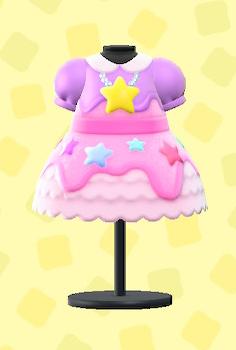あつ森のゆめかわなドレスのピンク