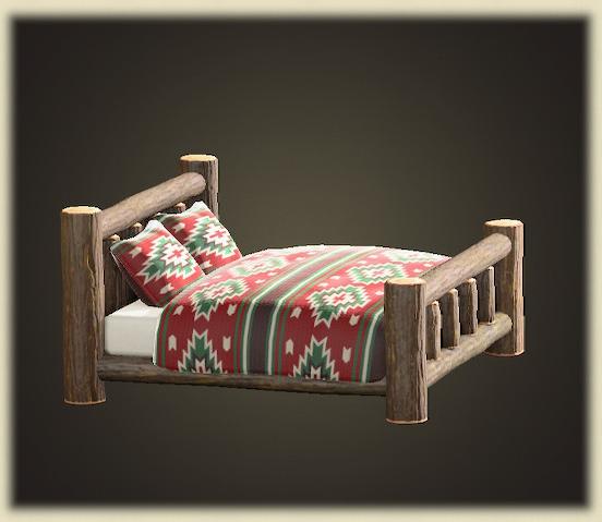 あつ森のまるたのベッド
