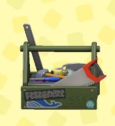 あつ森の木製の工具箱のカーキ
