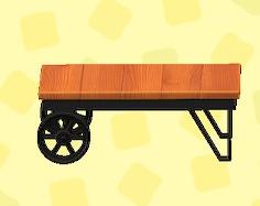 あつ森のアイアンウッドローテーブルのチーク